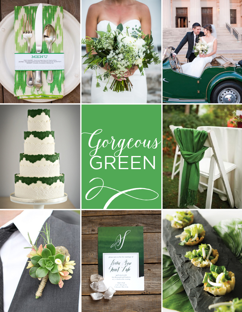 green wedding inspiration