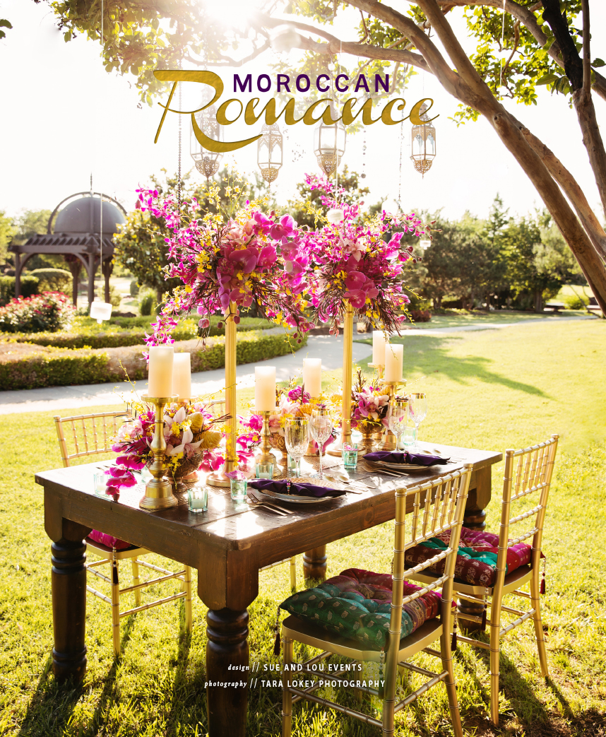 Oklahoma wedding planners Sue and Lou Events Moroccan Romance Wedding Inspiration