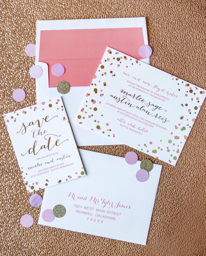 pretty patterns oklahoma wedding invitations With wedding invitations okc