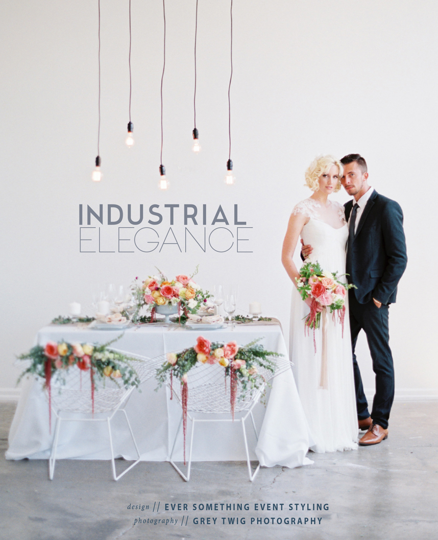 elegant industrial wedding inspiration
