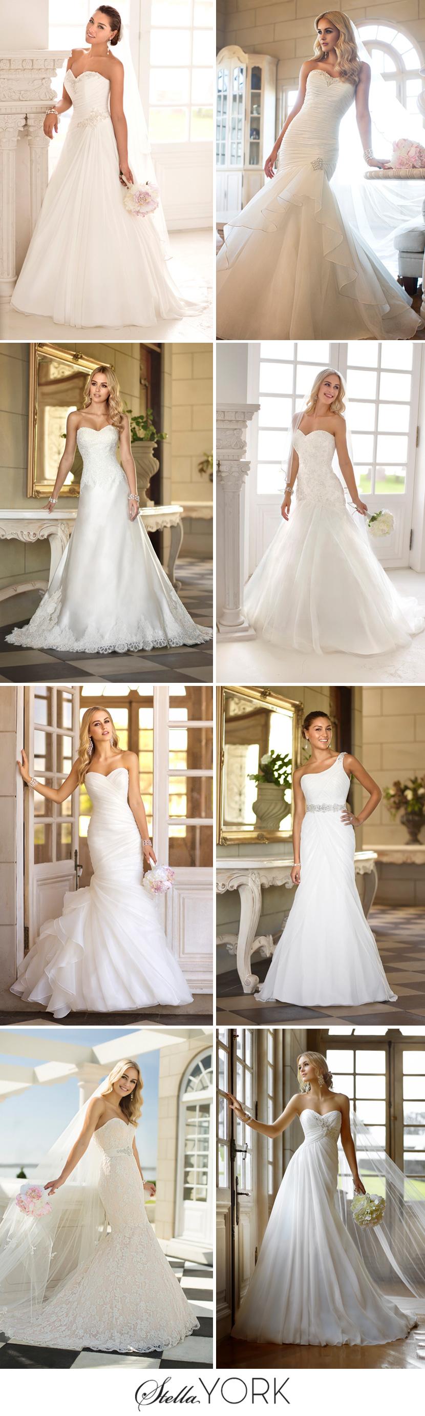 Beautiful stella york wedding gowns for Wedding dress preservation houston