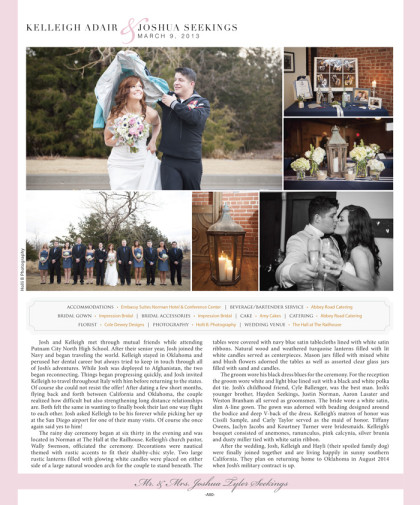 Wedding announcement 2014 Spring/Summer Issue – A80_January 2014 Bride Pages 78.jpg
