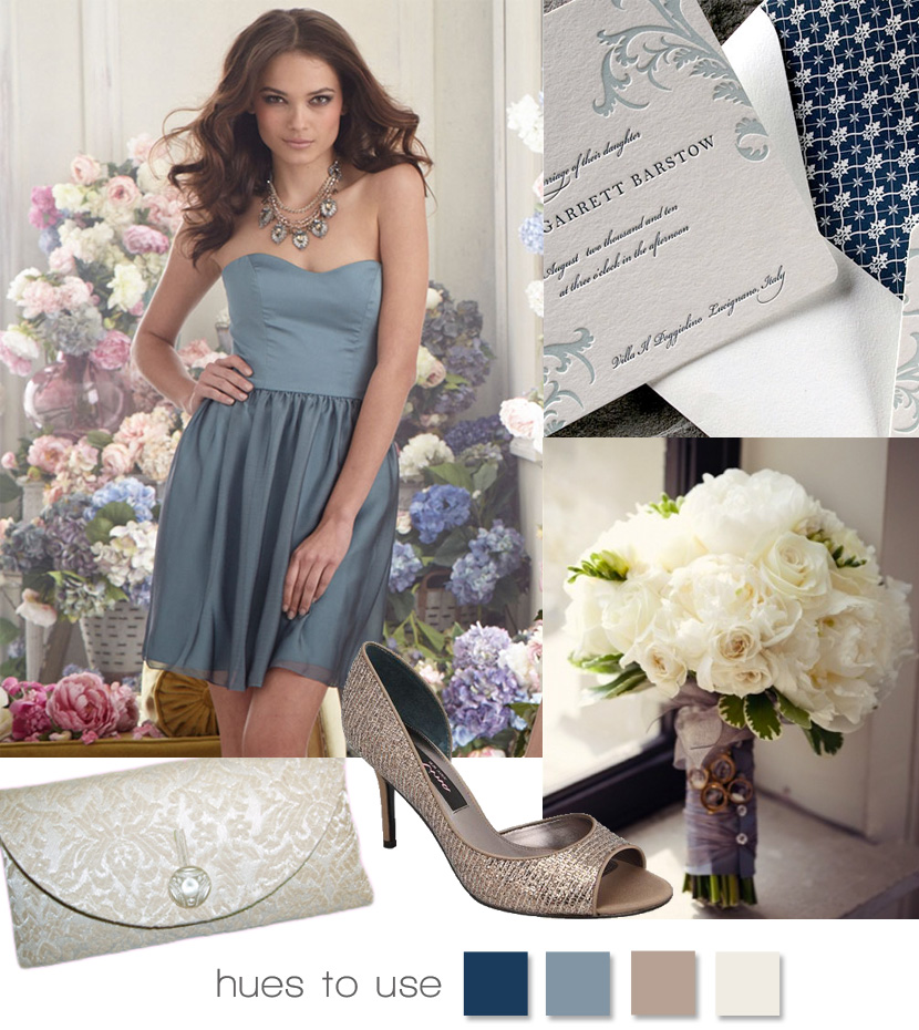 Bronze And Blue Wedding Inspiration