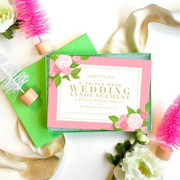 Triple Page Wedding Announcement