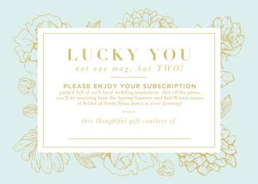 Subscription Card Close-up