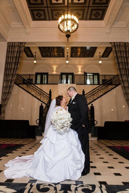 Glam tulsa wedding at the mayo hotel sarah kyle for Wedding dress rental tulsa