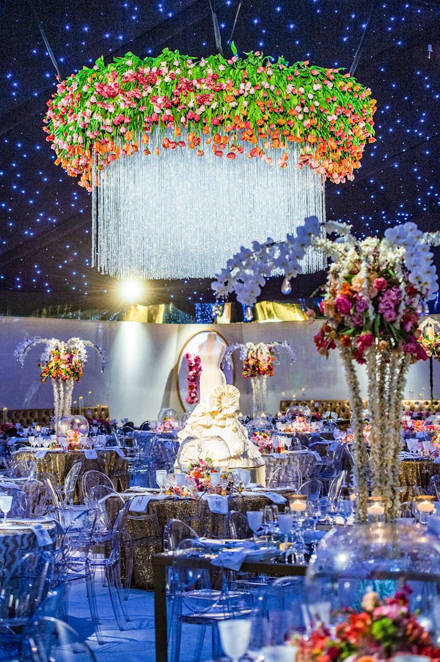 Suspended Floral 1 - Erica Weddings, edmondson weddings, todd events