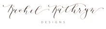 Rachel Kathryn Designs - Oklahoma Wedding Calligraphy