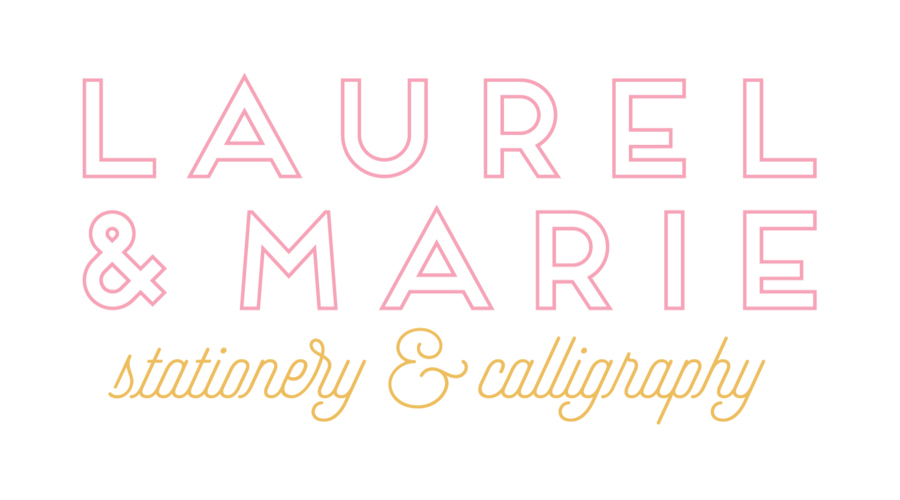 Laurel & Marie - Oklahoma Wedding Calligraphy