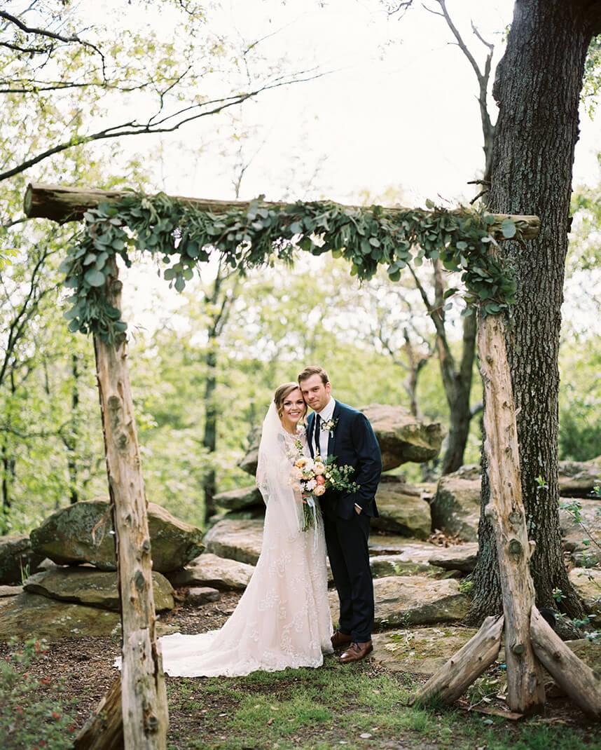 Natural Wedding Altar