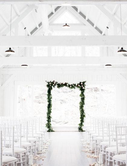 Decor and Floral Trends Modern White Oklahoma Wedding Photographer Owl and Anchor Studios Oklahoma Wedding Planner Daniel Weir Design