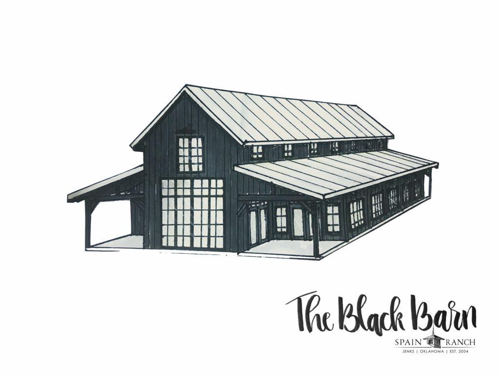 The Black Barn at Spain Ranch - Oklahoma Wedding Venues