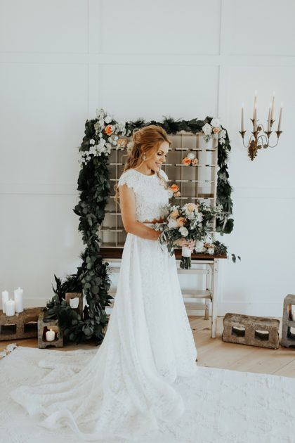 Southern Meets Industrial Chic Oklahoma Wedding Planner Grassroots Vintage Events and Rentals Oklahoma Wedding Photographer Chelsea Denise Photography