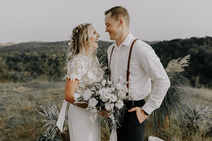 Alyssa Anderson Weds Jesse Glass | Intimate Bohemian Wedding Captured by Caroline Eliza Co.