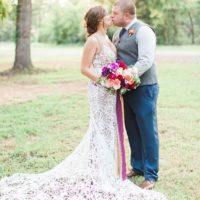 Melissa Hamby Weds Shawn Fadum Colorful Oklahoma Ranch Wedding
