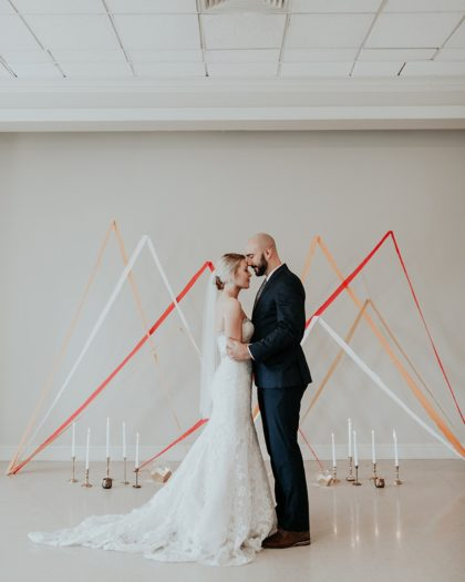 Modern Peaches and Cream Inspiration Oklahoma Wedding Planner Malyn Made Weddings Oklahoma Wedding Photographer Jordan Taylor Photography Aiming Arrows