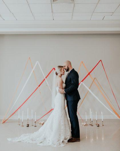 Modern Peaches and Cream Inspiration Oklahoma Wedding Planner Malyn Made Weddings Oklahoma Wedding Photographer Jordan Taylor Photography Aiming Arrows
