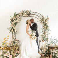 Copper-Accented Romantic Modern Wedding Styled Shoot Oklahoma Wedding Photographer Emily Nicole Photo Oklahoma Wedding Florist Anthousai Floral Design