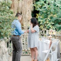 Surprise Garden Proposal Styled Shoot Oklahoma Wedding Planner and Florist June Sixteenth Events Oklahoma Wedding Venue Myriad Botanical Gardens