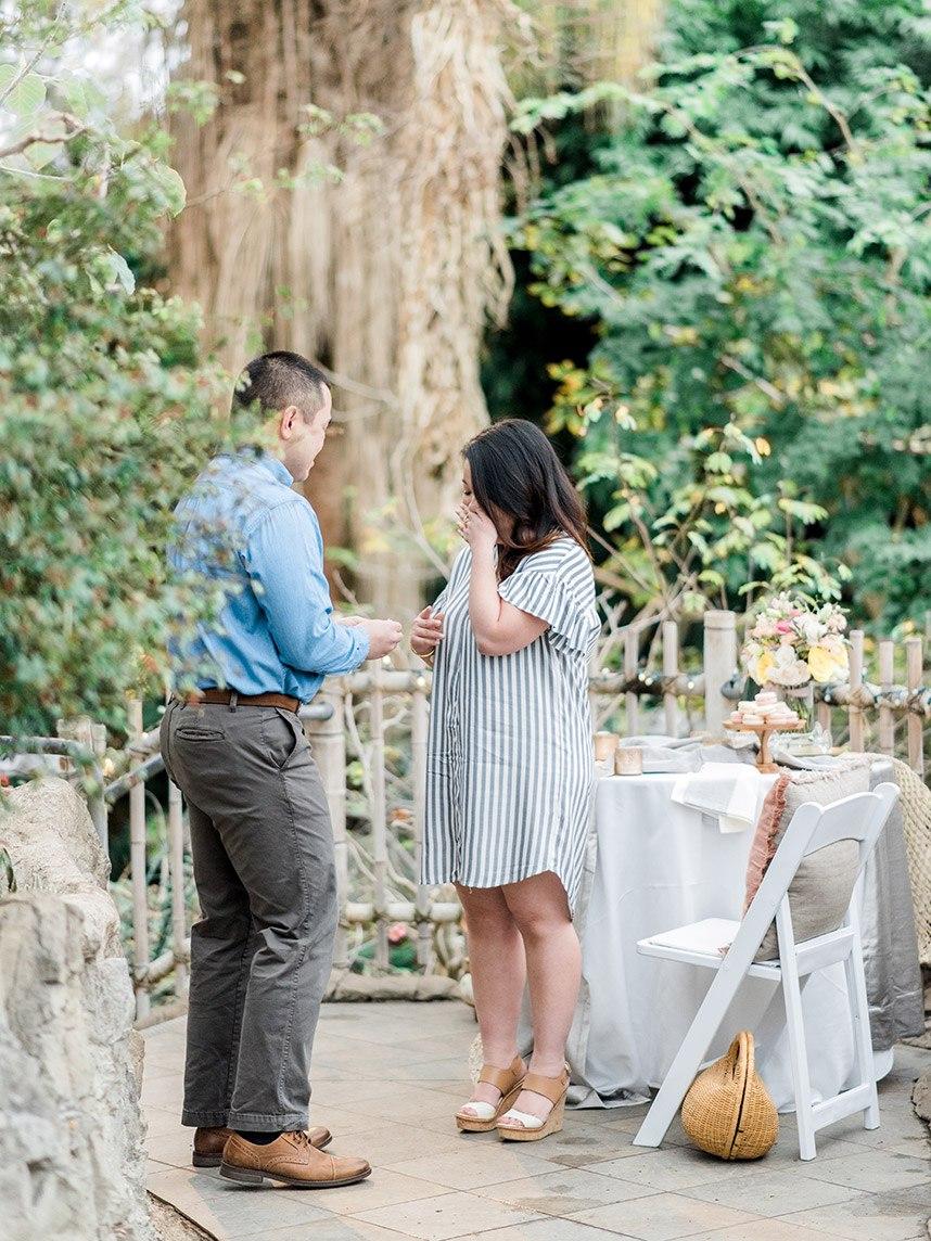 Surprise Garden Proposal Styled Shoot Oklahoma Wedding Planner and Florist June Sixteenth Events Oklahoma Wedding Venue Myriad Botanical Gardens