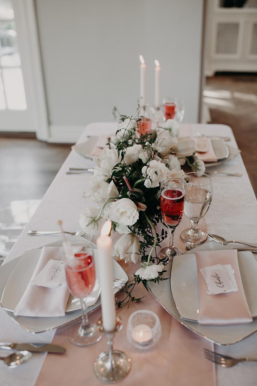 Timeless Blush Ballroom Wedding Inspiration By Malyn Made Weddings