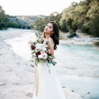 Elegant Boho Bridals at Turner Falls Captured by Kailey Watson Photo