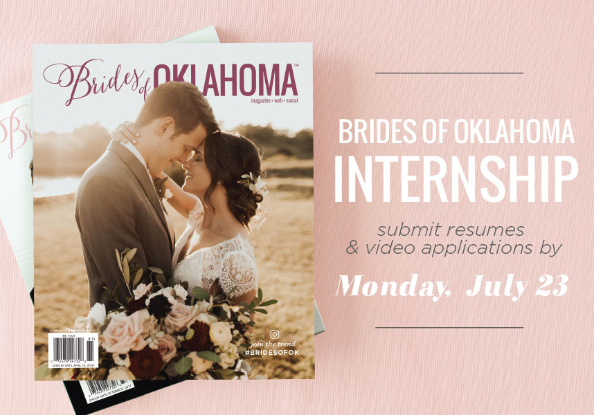 Brides of Oklahoma magazine 2018 fall internship