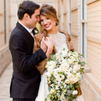 Amy Wallace Weds Edward Deeb III Navy and Gold New Year's Eve Wedding