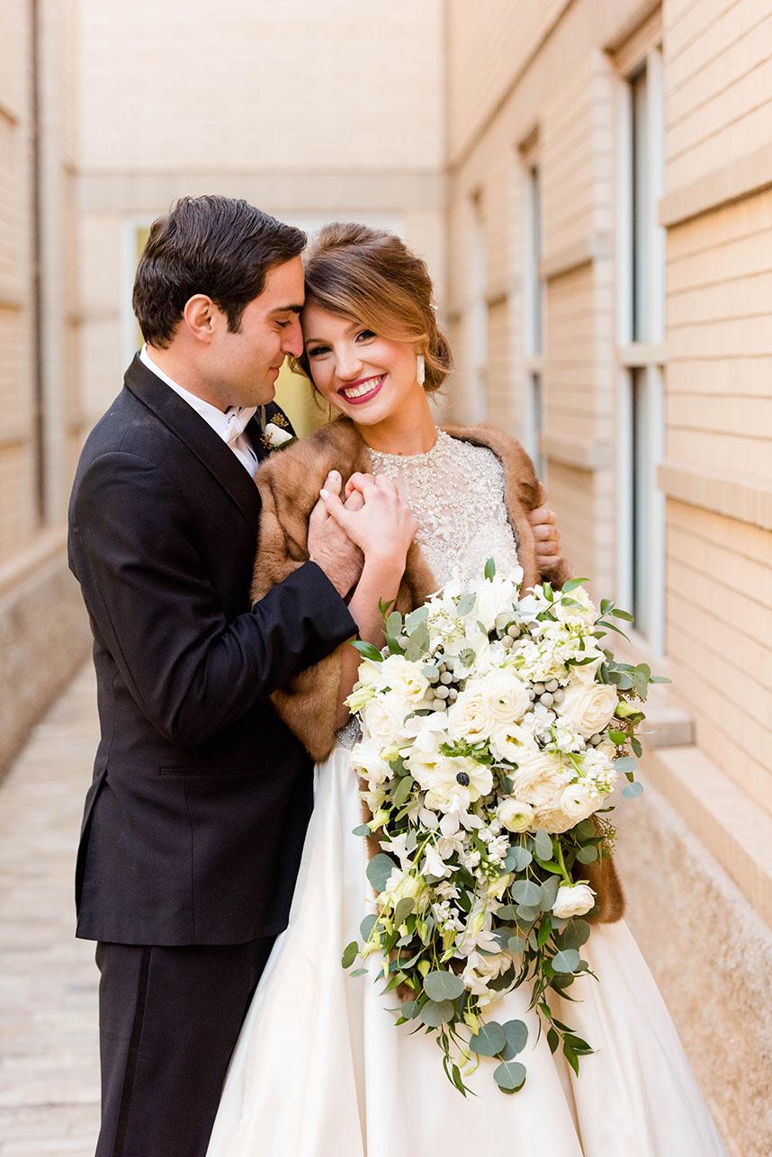 Amy Wallace Weds Edward Deeb III Navy and Gold New Year's Eve Wedding