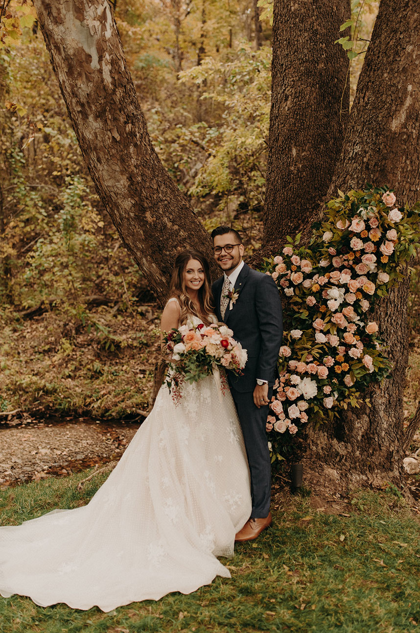 Rachel Kollmorgen Weds Kevin Hiles Autumn Brunch Wedding Captured by Peyton Rainey Photography
