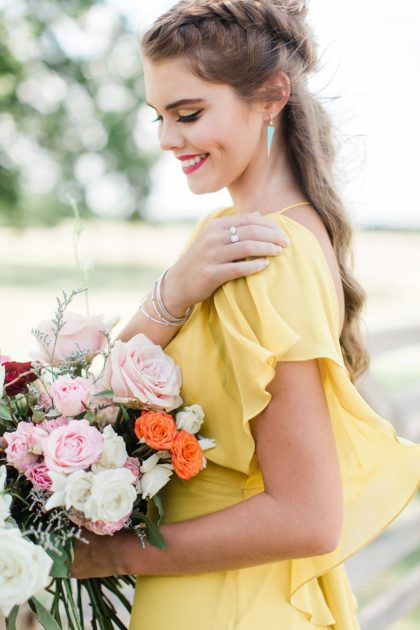 yellow bridesmaids dress