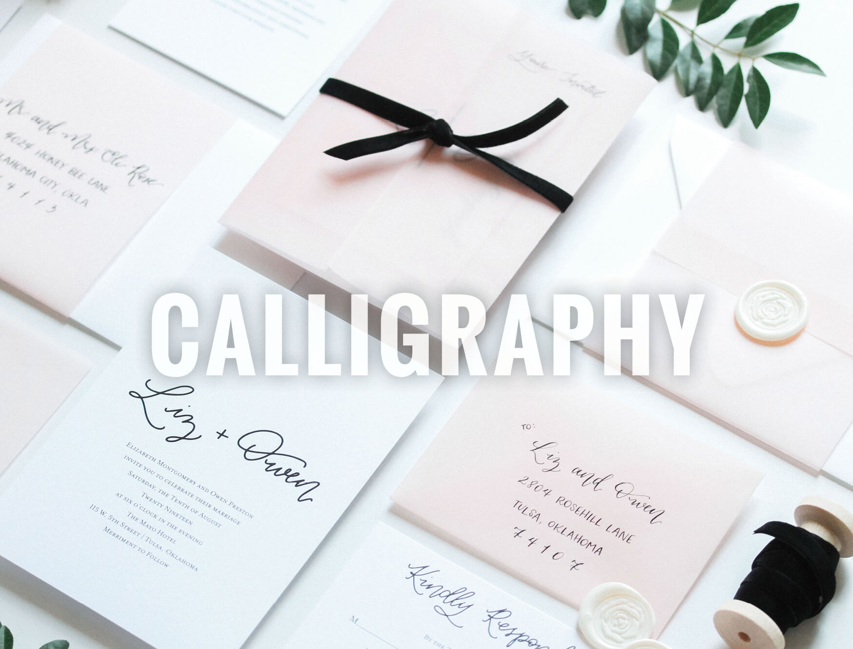 Oklahoma Wedding Calligraphy