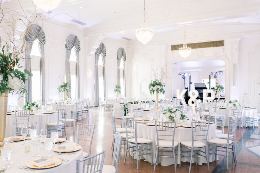 classic gray and white wedding