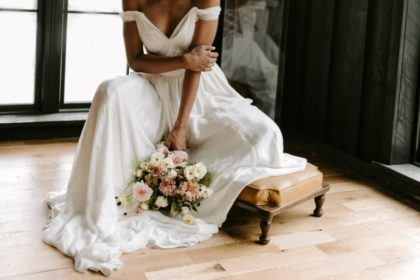 contemporary ethereal wedding inspo from the black barn at spain ranch