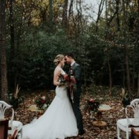 woodsy modern wedding