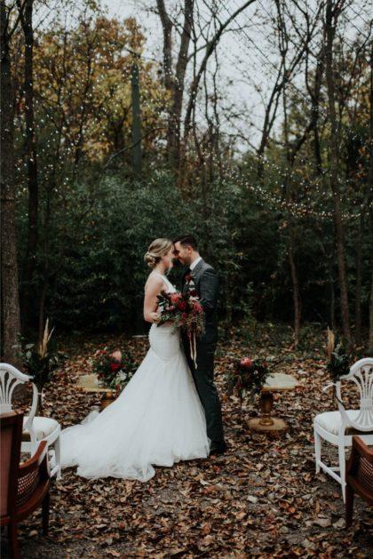 woodsy modern wedding