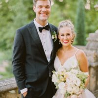 Taylor Beth Johnson Weds Brett Burger Dusty Blue Tulsa Wedding