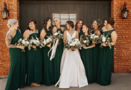 hunter green bridesmaid dresses