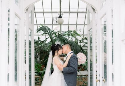cute tulsa couple wedding