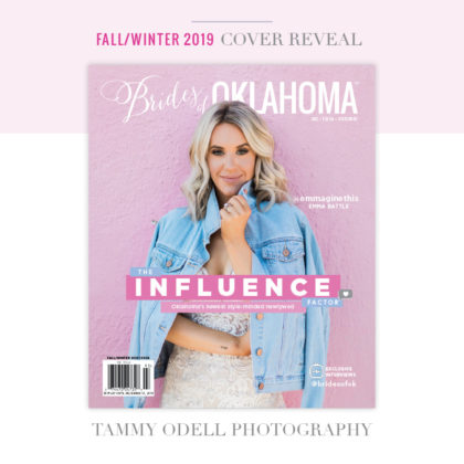brides of oklahoma magazine fall winter 2019 cover reveal
