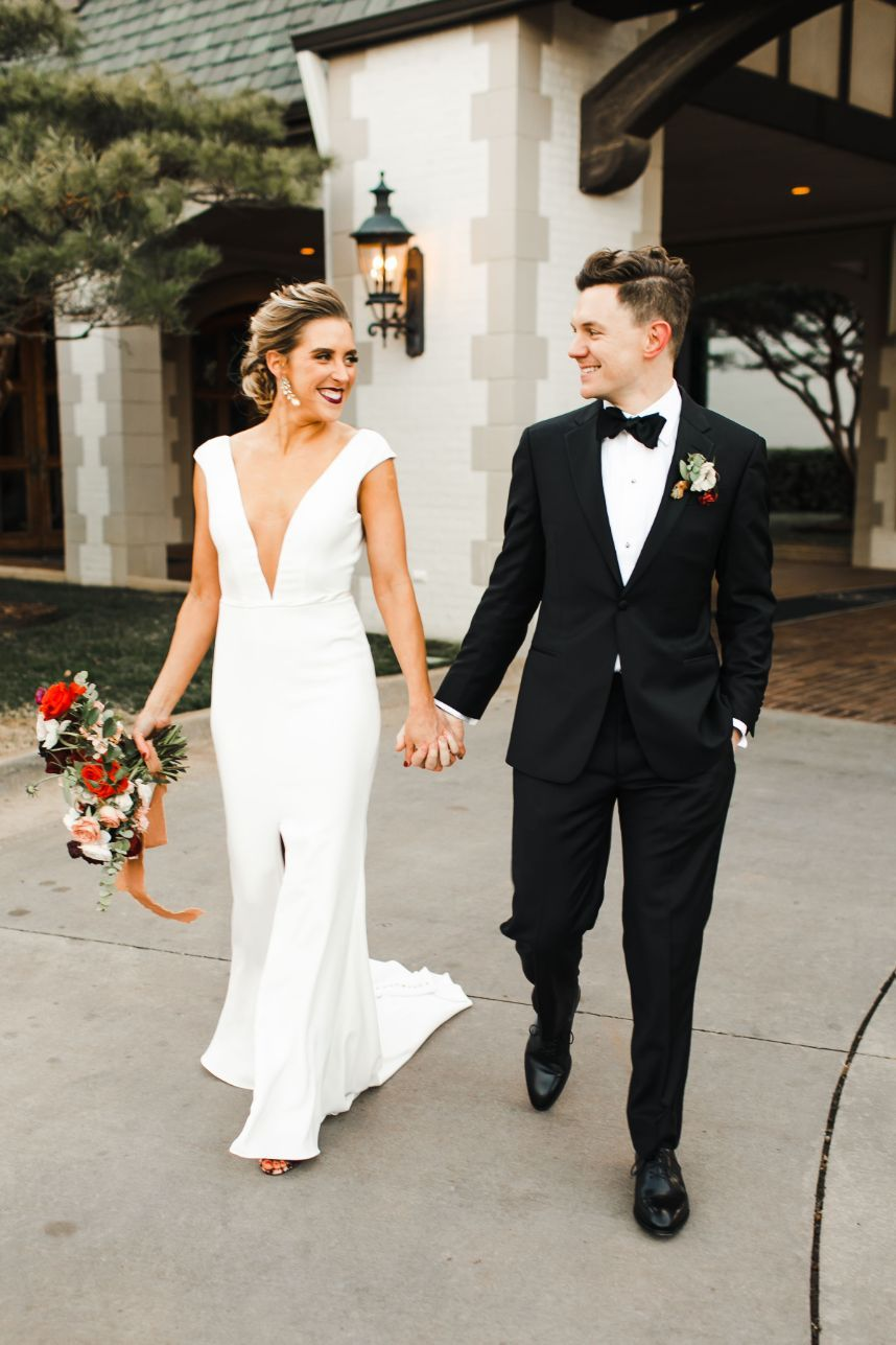 stylish country club wedding
