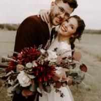 vintage crimson boho wedding