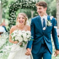 Victoria Walker Weds Jacob Schooler Elegant White Backyard Wedding