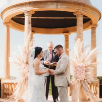 pampas grass ballroom wedding