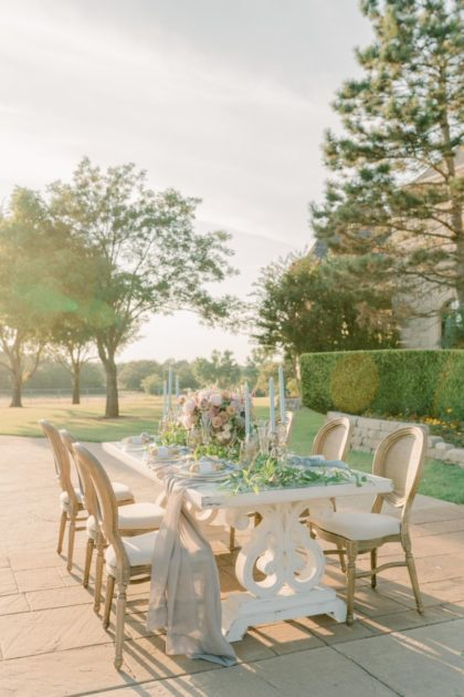 french wedding setting