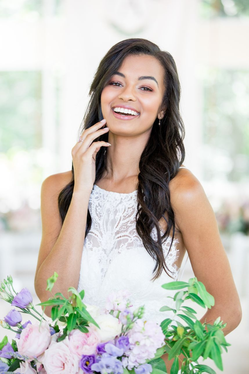 We were Inspired by Sweet Pea Hues for this Glass Chapel Shoot