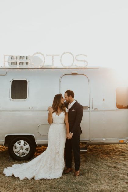 Airstream Wedding Shoot Oklahoma Wedding Photo Booth Memory Lane Booth & Co