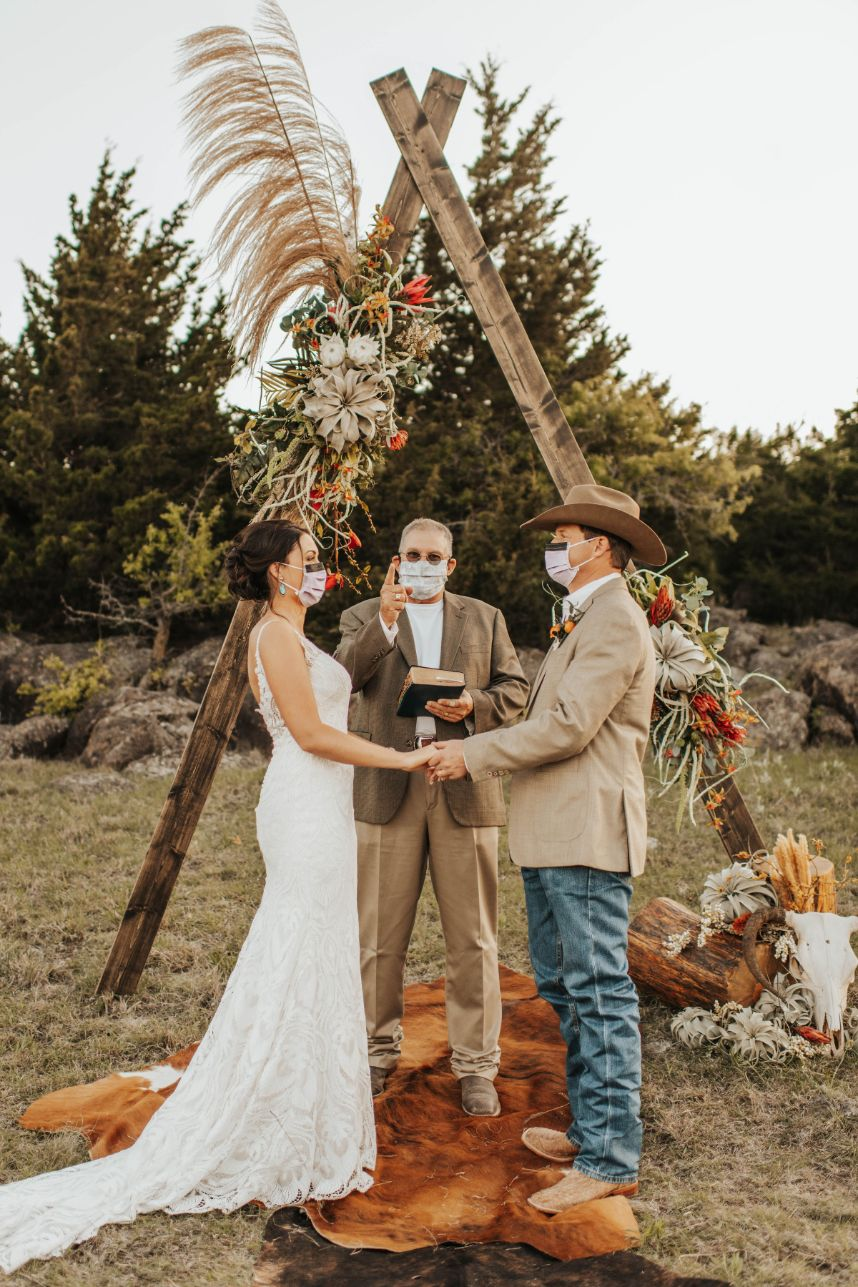 corona wedding masks