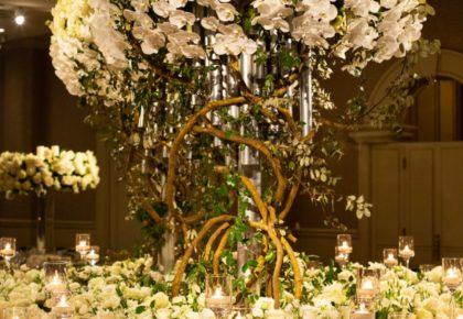 classic floral adorned reception