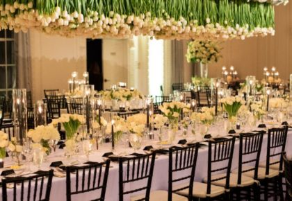 wedding hanging floral arrangement